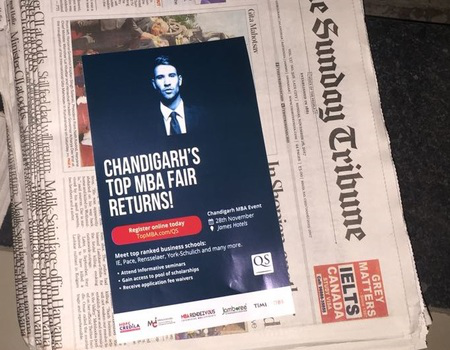 newspaper insert advertising for event promotion